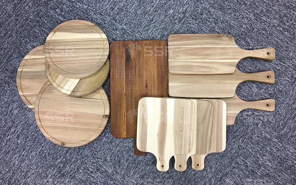 Acacia Cutting Board Chopping Board Serving Board Wood Board Solid Wood Hardwood Oil Coating Oil Finish Wood Industry Global Commerce Trade International Wood Product Supplier Wholesale FSC Certified International Business Import Export