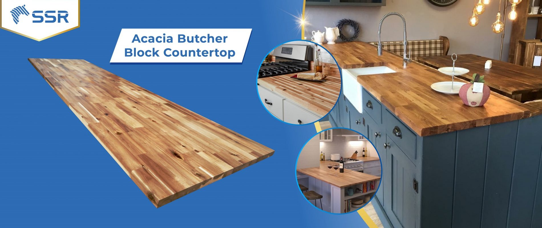 Acacia Solid Wood Hard Wood Wood Plank Wood Panel Wood Board Oil Coating Oil Finish Countertop Butcher Block Table Top Wood Industry International Wood Product Supplier FSC Certified International Business Import Export