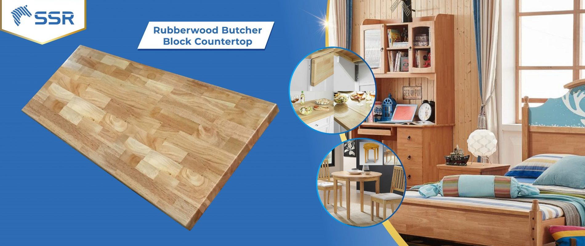 Rubberwood Solid Wood Hard Wood Finger Joint Wood Joint Wood Plank Wood Panel Wood Board Oil Coating Oil Finish Countertop Butcher Block Table Top Wood Industry Global Commerce Trade International Wood Product Supplier Wholesale FSC Certified International Business Import Export
