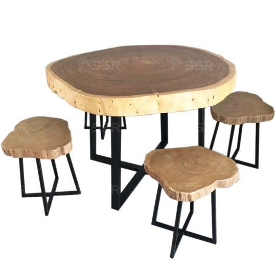 Table de salle a manger Table ronde Ensemble de salle à manger 4 chaises 6 chaises