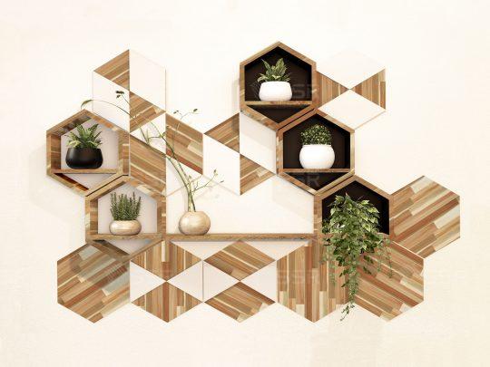 Tablette flottante Étagères murales Étagères de présentation Meubles Bois d'hévéa Acacia Chêne L'industrie du bois Fournisseur international de produits en bois De gros Certifié FSC Importation Exportation