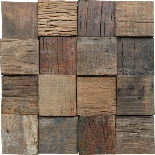 Reclaimed wood 3d wall tile mosaic wall panel Solid Wood Hard Wood Wood Panel Wood Board Wood Industry Global Commerce Trade International Wood Product Supplier Wholesale FSC Certified International Business Import Export